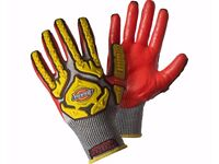 Kong Impact Gloves - Knitwrist with Padded Grip Palms Manual Handling Sz M