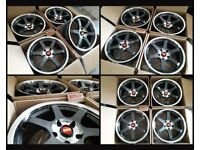 "HT159* NEW 18"" ALLOYS ALLOY WHEELS BBS ROTOR GRID BOLA B1 5X108 FORD CITREON VOLVO JAGUAR RENAULT"