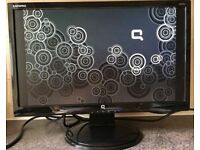 20 inch HP Compaq Q2022a Widescreen LCD 5ms Flat Screen monitor with speakers DVI VGA HDMI adapter
