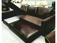 Corner sofa with pull out sofa bed and storage in good condition can deliver