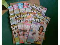 24 ISSUES SIMPLY KNITTING - KNITTING MAGAZINES - JOB LOT