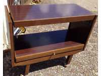 vintage retro wooden trolley folding kitchen dining table shabby chic office work desk folding