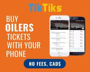 100% Verified Oilers tickets for all home games! Safe and secure transactions, all in CAD!