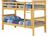 Kids Furniture-Kids Bed New Single Wooden Bunk Bed In Multi Colors W Opt Mattress-cash on delivery