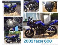 2002 YAMAHA FZS600 FAZER VERY CLEAN BIKE WITH EXTRAS LONG MOT LOW MILES £1699 ,KICKSTART BELFAST