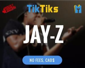JAY-Z Concert Tickets Live in Edmonton on Dec 9th. Starts at $50 Get our APP! NO FEES, CAD$, 5 Star Canadian Company!