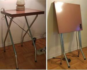 MID-CENTURY 60s Projection Table MINT Solid Metal Works Unique Charging Station Retro MCM Vintage Movie Theatre Set Arty