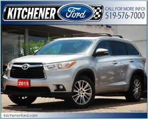 2015 Toyota Highlander LE 4WD/LEATHER/CAMERA/NAVI/HTD SEATS&M...
