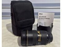 Nikon AF-S Nikkor 24-70mm f/2.8G ED Lens F2.8 G, HOYA FILTER AND CASE