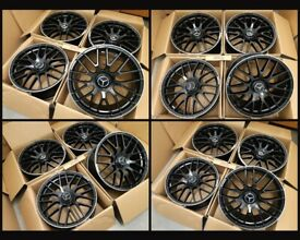 """HT332* NEW 19"""" OR 20"""" INCH ALLOY WHEELS ALLOYS C63S AMG MERCEDES S E C A CLASS CLA CLS CL BLACK C63"""