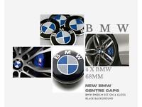 Original BMW Wheel Centre Caps Set Of 4 68 MM Alloy Fits 1 3 7 X5 E46 E90 Z4 M3 Series + Many More