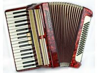 Worldmaster - 80 Bass / 34 Keys - 2 Voice Piano Accordion in Red Pearl Finish