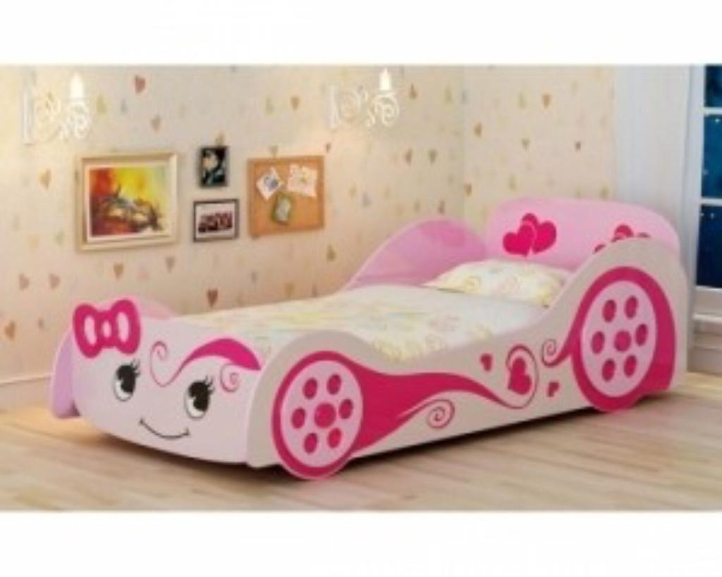 Kids Girls Pink Car Bed Full Single Bed Size Make An Offer In Sutton