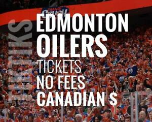 Edmonton Oilers Tickets - All Home Games - Easy to understand pricing because, NO FEES and in Canadian Dollars!