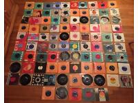 Job lot of 95 records. 7 inch vinyl. Mainly from 1960s. The Beatles, The Rolling Stones etc