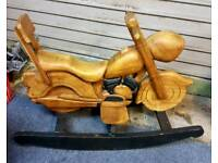 MOTORBIKE ROCKING CHAIR FOR SALE IDEAL FOR BIRTHDAY PRESENT