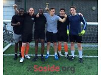 Spaces for new teams in Shoreditch Sunday 7-a-side league!