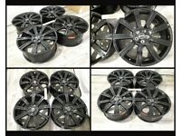 "HT840* NEW 22"" INCH ALLOYS ALLOY WHEELS FIT RANGE ROVER SPORT / RANGE ROVER VOGUE BLACK STORMER"