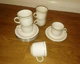 Set of China cups and saucers