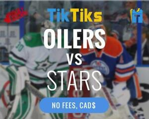 Oilers vs Stars Oct 26th - Cheaper than StubHub/Ticketmaster - No fees, CAD$, Money Back Guarantee