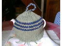 NEW HAND KNITTED TEA COSY - GRANNIES FAVOURITE - CHUNKY RIBBED