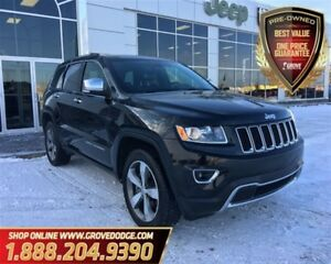 2016 Jeep Grand Cherokee Limited| Leather| Low KM| Sunroof| AWD