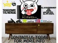 KING I P T V BEST AROUND £50 A YEAR