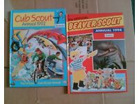 2 VINTAGE SCOUT ANNUALS - CUBS 1992 & BEAVERS 1994 - JOB LOT