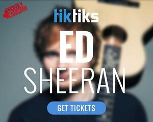 Ed Sheeran Concert Tickets Live at Rogers Place in Edmonton, July 25th and 26th.