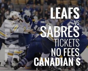 Leafs vs Canadiens Preseason Sept 24th Tickets Scotiabank Arena Canadian $, NO FEES, awesome customer, local company!