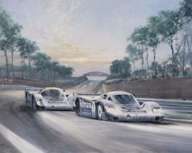 Alan Fearnley- Sunset at Le Mans