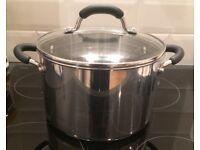 Lakeland Stainless Steel Lidded Casserole Pan 5 litre