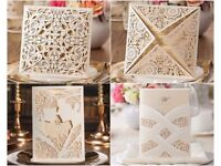 SALE Laser Cut Wedding Invitations - ALL £1 WHILE STOCK LASTS