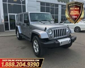 2015 Jeep WRANGLER UNLIMITED Sahara| 4X4| Hard Top| Low KM| Navi