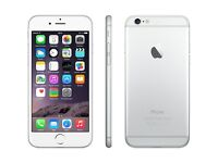 iPhone 6 16gb silver Grade C with 6 month free warranty and free accessories