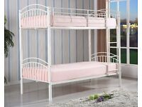 LONDON METAL BUNK BED ON SPECIAL OFFER IN DIFFERENT COLOURS