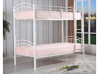 BRAND NEW FORTE METAL SINGLE BUNK BED