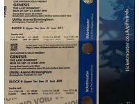 2x Tickets for GENESIS in Birmingham