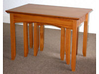 Solid Pine Coffee or Side Tables - Nest of Three
