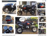 SKYTEAM ST125 PRO -(MSX125 LOOKALIKE) FINANCE AVAILABLE -NO MILES NEVER USED -FINANCE ETC £1300