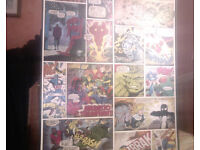 OFFICIAL MARVEL COMIC STRIP FULL SIZE WALL MURAL/CANVAS