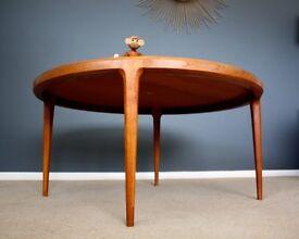 Danish mid century teak coffee table retro 60s