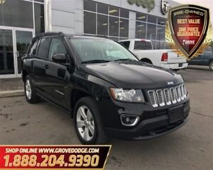 2016 Jeep Compass Sport| Leather| Low KM| 4X4| Sunroof