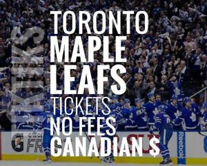 Toronto Maple Leafs Tickets - All Home Games - Easy to understand pricing because, NO FEES and in Canadian Dollars!