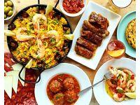 Waiter/Waitress & Barista needed for vibrant local Spanish Restaurant