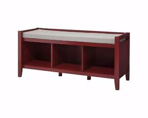 New, Threshold Open Storage Bench Wood - Valspar Red *PickupOnly (2 AVAILABLE)