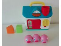 Bright star Three piggies house sort shapes baby electronic , education toy
