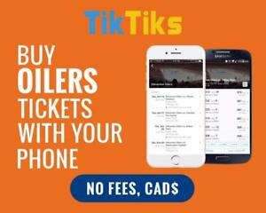 All Oilers home games at the tip of your fingers! Get our 5 star app and pay NO FEES, CAD$, Mobile Entry no printing
