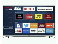 "SHARP 49"" LED 4K UHD smart wifi tv built USB MEDIA PLAYER HD FREEVIEW"