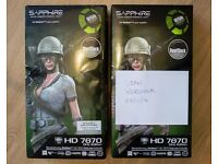 2 x Sapphire HD7870 GHz Edition Graphics Cards